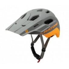 kask rowerowy Cratoni C-Maniac 2.0 Trail roz. L/XL (58-61cm) szary/pomarancz mat