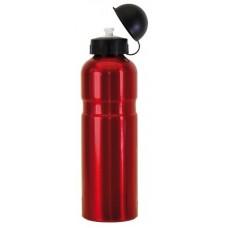Bidon Alu 0,75 litrowa czerwony z klapa