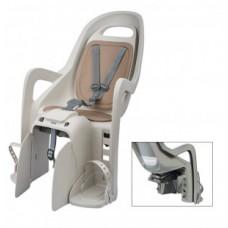 fotelik dziec Polisport Groovy Maxi CFS kreomowy/brazowy, montaz  na bagaznik