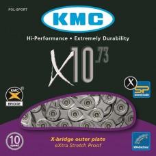 KMC ŁAŃCUCH MTB/SZOSA X10 73 x114 SZARY PUD.