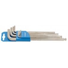 zestaw kluczy szesciokatn.Unior dlugi  plastik clip, 1,5-10mm, 220/3SLPH