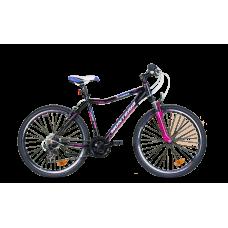 """Monteria rower Fitness 26"""" - czarno-różowy"""