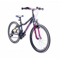 """Monteria rower Fitness 24"""" - czarno-różowy"""