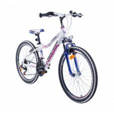 """Monteria rower Fitness 24"""" - biało-różowy"""
