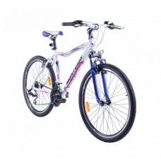 """Monteria rower Fitness 26"""" - biało-różowy"""