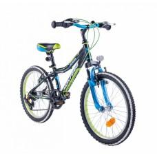 """Monteria rower Junior 20"""" - czarno-zielony"""