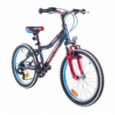 """Monteria rower Junior 20"""" - czarno-czerwony"""