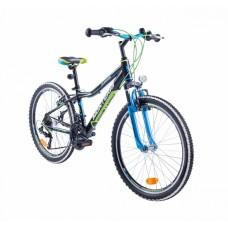 """Monteria rower Junior 24"""" - czarno-zielony"""