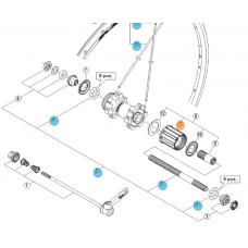 Shimano bębenek Główka piasty FHT660 8/9rz. WHMT65