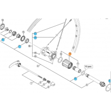 Shimano bębenek Główka Kasety Wh6800-R Y49398060