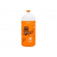 Bidon 0,5 l. dziecięcy,pomarańczowy/półprzeźroczysty ROMET