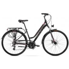 Rower ROMET GAZELA 2 czarno - różowy 2021