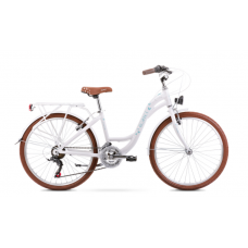 Rower ROMET PANDA 1 biało-niebieski 2021