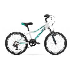 Rower ROMET RAMBLER 20 KID 2 biało-szmaragdowy 2021