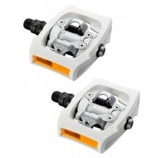 Shimano Pedały SPD PD-T400 + bloki i odblaski, białe