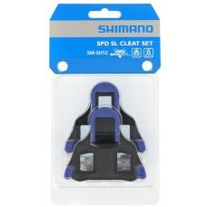 Bloki pedałów SM-SH12 SPD-SL Szosa,dwustopniowe, niebieskie