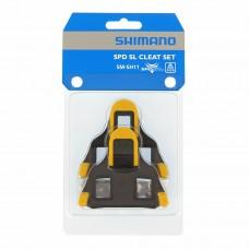 Bloki pedałów SM-SH11 SPD-SL Szosa, samoregulujace, żółte