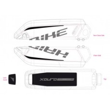 naklej. do osl. na baterie E-Bike Xduro Gen2 2015,carbon+zielony mat