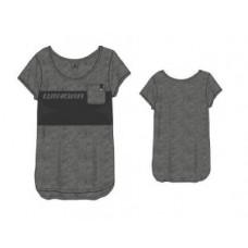 Winora Crewneck Shirt Logoprint damskie jasno szary/ciemno szary, rozm. L