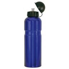 Bidon Alu 0,75 litrowa niebieski z klapa