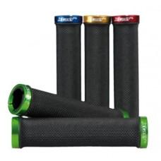 MTB/ATB-Griffe XtasY, schwarz 135 mm dl., z zielonym zaciskiem